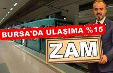 BURSA'DAKİ ULAŞIM ZAMININA HALK TEPKİLİ!