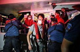 İstanbul'da deniz polisi Kovid-19 önlemleri denetimi...