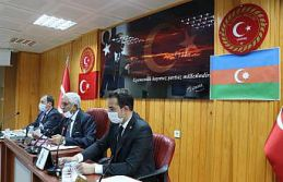 Edirne İl Genel Meclisinden Azerbaycan'a bayraklı...