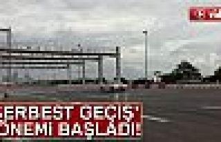 15 Temmuz Şehitler Köprüsü'nde serbest geçiş...