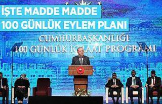 CUMHURBAŞKANI ERDOĞAN '100 GÜNLÜK EYLEM PLANI'NI...