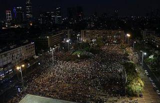 İsrail vatandaşı binlerce Filistinli ırkçı yasayı...