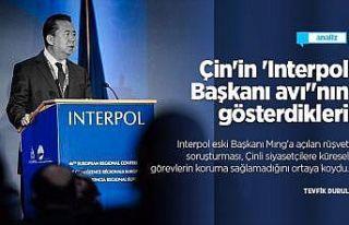 Çin'in 'Interpol Başkanı avı'nın gösterdikleri