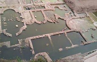 İnşaat alanındaki kalıntı 'imparatorluk salonu'...