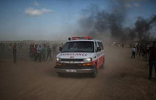 İsrail Gazze sınırında bir Filistinliyi şehit...