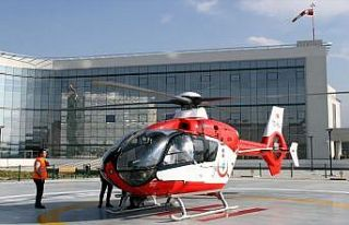 Kayseri Şehir Hastanesi'nde hava ambulans hizmeti...