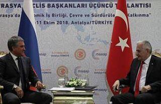 TBMM Başkanı Yıldırım, Rusya Devlet Duması Başkanı...