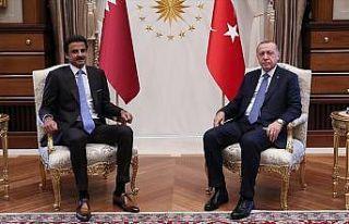 Cumhurbaşkanı Erdoğan ile Katar Emiri Al Sani bir...