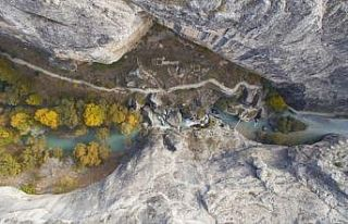 Tohma Kanyonu sonbaharda başka güzel