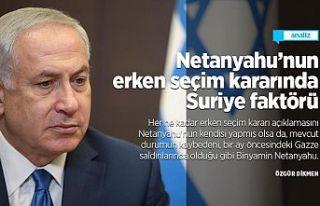 Netanyahu'nun erken seçim kararında Suriye faktörü