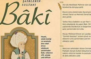 'Şairlerin sultanı: Baki'