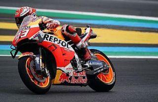 Fransa'da zafer Marquez'in