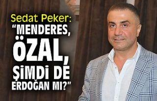 """Sedat Peker: """"Menderes, Özal, şimdi de Erdoğan..."""