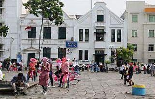 Cakarta'nın tarihi ve kültürel eski şehir merkezi:...