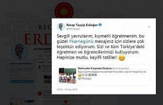 Cumhurbaşkanı Erdoğan çocukların karne sevincine...