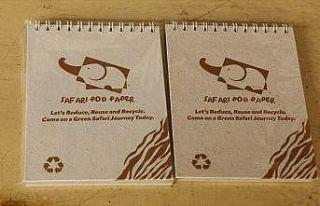 Fil dışkısından kağıt üretimi