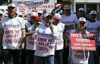 Hak-İş ve Hizmet-İş Genel Başkanı Arslan: Yürüyüşümüz...