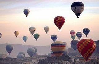 Kapadokya'da ilk kez uluslararası sıcak hava balon...