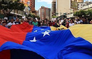 Venezuela hükümet ve muhalefet temsilcilerinin görüşmeleri...