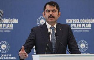 Çevre ve Şehircilik Bakanı Kurum: 1,5 milyon konutun...