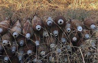 Tel Abyad'da teröristlere ait 285 ağır silah mühimmatı...