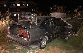 Bilecik'te park halindeyken yanan araçta hasar...