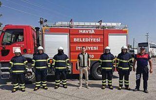 Havsa Belediyesi, itfaiyesini yeni ekipmanlarla güçlendirdi