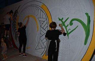 Keşan'da duvarlar rengarenk oluyor
