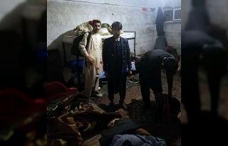 Kocaeli'de 17 yabancı uyruklu saklandıkları evde...