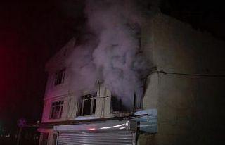Bursa'da korkutan ev yangını
