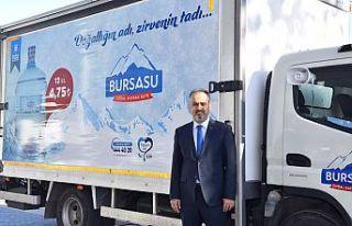 """Büyükşehir Belediyesi """"Bursa Su"""" markasıyla..."""