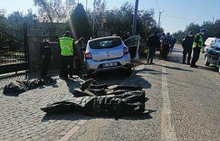 Çanakkale'de otomobil duvara çarptı: 3 ölü,...
