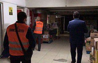 Edirne'de çok katlı binaların altındaki iş...