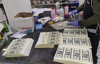 Matbaa atölyesinde sahte 1,5 milyon dolar ele geçirildi