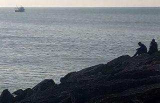 Saros Körfezi'nde balıkçı teknesinin batması...