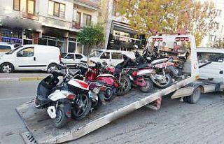 Ülke genelindeki denetimlerde binlerce motosiklet...