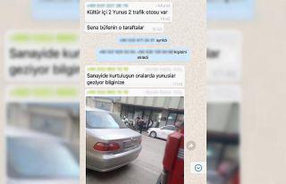 WhatsApp grubundan polisin uygulama yerlerini paylaşanlar...