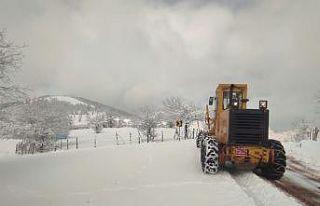 Bursa ve çevre illerde kar yağışı etkili oluyor