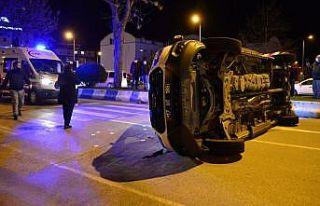 Çanakkale'de taksi ile ambulans çarpıştı:...