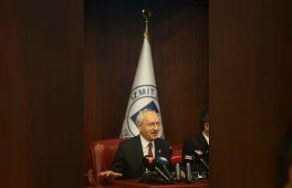 CHP Genel Başkanı Kılıçdaroğlu, İzmit Belediyesi'nde...