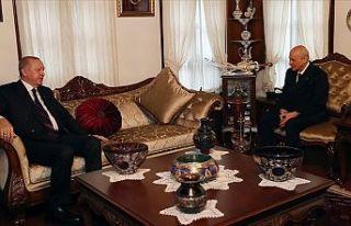 Cumhurbaşkanı Erdoğan MHP Genel Başkanı Bahçeli'yi...