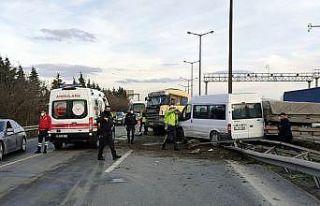 Anadolu Otoyolu'nda iki kişinin yaralandığı...