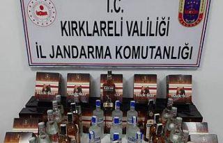 Kırklareli'nde 120 litre kaçak içki ele geçirildi