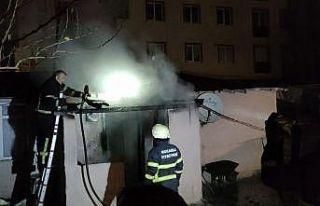 Kocaeli'de yangın çıkan evde hasar oluştu