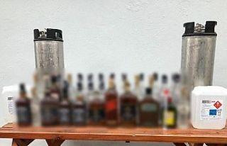 Tekirdağ'da 297 litre kaçak içki ele geçirildi