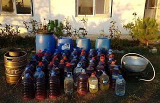 Tekirdağ'da 358 litre kaçak içki ele geçirildi