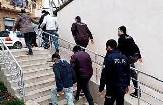 Tekirdağ'da yakalanan 4 hırsızlık şüphelisi...