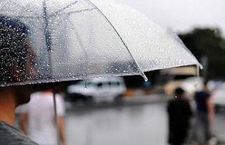 Trakya hafta sonu yağışlı hava sisteminin etkisine...