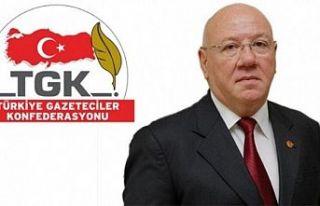 Türkiye Gazeteciler Konfederasyonu basın mensuplarının...