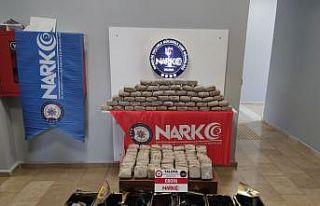 Yalova'da pirinç torbaları ve bal tenekelerine...
